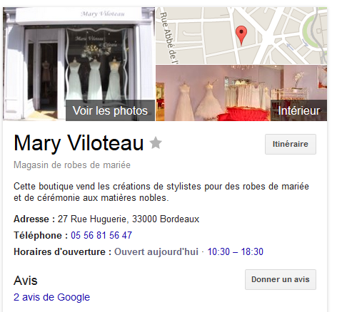 Referencement local Mary Viloteau