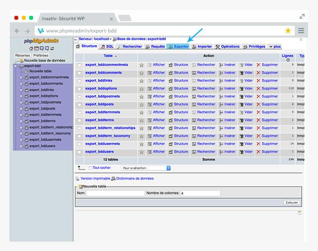 Screenshot php my admin